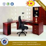 Mahogany таблица меламина офисной мебели цвета с задним шкафом (HX-5N022)