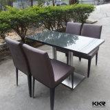 석영 상단을%s 가진 직사각형 4 Seater 식당 테이블