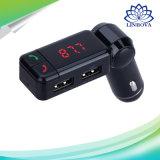 Transmisor sin manos del jugador de música del coche de Bluetooth del cargador dual sin hilos del USB FM