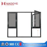 Stoffa per tendine di alluminio lustrata doppio Windows dei fornitori con vetro fisso
