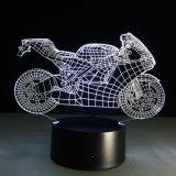 테이블 3D 기관자전차 LED 밤 램프