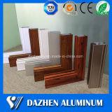 Perfil de aluminio de aluminio de la protuberancia del grano de madera para la ventana y la puerta