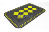 까맣고 & 노란 휴대용 고무 도로 안전 속도 방석
