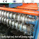 Roulis en acier de tuile de Double couche formant la machine pour la feuille de toiture