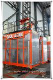 Gaoli Sc320/320-3.2ton psto elétrico com a grua da construção de duas gaiolas
