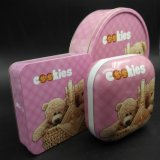 Cartoon Printing Square Tin Box para Cookies (S001-V25)