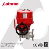Robinet à tournant sphérique électrique d'acier inoxydable de Wenzhou de décomposition chinoise de fournisseur