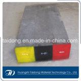 Сталь инструмента работы AISI H21 горячая, круглая плоская стальная штанга DIN1.2581