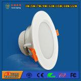 7W diodo emissor de luz Downlight com deterioração da saída luminosa elevada e da baixa luz
