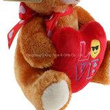 Stuk speelgoed van de Pluche van drie Teddyberen van Kleuren het Valentijnskaart Gevulde