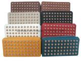 Застежка-молния женщин PU стержня кожаный вокруг бумажника