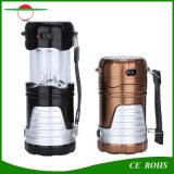 Neues Design Rechargeable Camping Lantern 6LED Solar Torch Light Outdoor Foldable Emergency Lighting für Hiking Fishing
