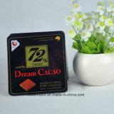 Kundenspezifischer quadratischer schwarzer kleiner Schokoladen-Zinn-Kasten, Schokoladen-Blechdose, Schokoladen-Verpacken