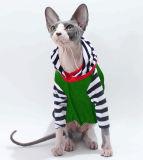 奇妙な縞猫のTシャツ