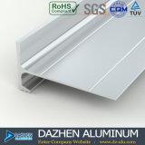 Perfil de alumínio da extrusão da guarnição de alumínio da telha com prata dourada anodizada