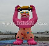 Модель шаржа гориллы гигант 20FT раздувная для напольный рекламировать K2082
