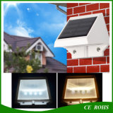 4 éclairages solaires actionnés solaires d'escalier de creux de la jante de lumière imperméable à l'eau solaire de jardin de la lampe de mur de DEL DEL
