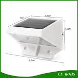 4 illuminazione solari alimentate solari della scala della grondaia dell'indicatore luminoso impermeabile solare del giardino della lampada da parete del LED LED