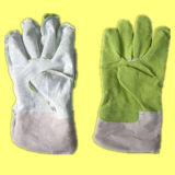 Grünes Vinyl imprägnierte vollen Palmen-Arbeits-Handschuh