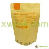 мешок 16oz Kraft бумажный для уплотнения застежки -молнии кофейных зерен верхнего