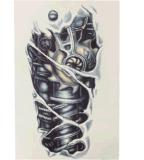 Etiqueta engomada temporal impermeable de moda del tatuaje del diseño de máquina 3D