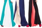 Vestido longo elegante do laço das mulheres das luvas para o partido