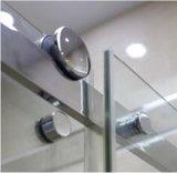 Приложение ливня раздвижной двери ролика ванной комнаты 8mm большое с бортовой панелью