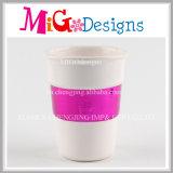 Tasses en céramique décoratives de lait avec la galvanoplastie