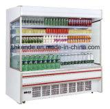 Refrigerador ereto de Multideck para o varejo e o indicador