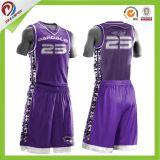 La venta al por mayor barata respirable modifica el baloncesto Jersey de la sublimación para requisitos particulares