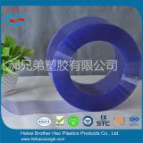 Anchura azul transparente estándar del rodillo 200m m de la cortina de la tira del PVC de la identificación