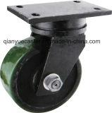 Modelo de América echador resistente menos adicional del eslabón giratorio del pivote central de 8 series, rueda de la PU