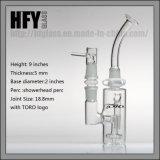 O Showerhead de vidro Perc do coletor da cinza de Hfy Toro que fuma o tamanho da junção à terra do grau 18mm 18.8mm de Ashcatcher 90 conduz o bebedoiro automático