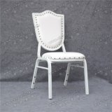 Стул венчания белой кожи Марокко популярный обитый штабелируя алюминиевый для случая и банкета (YC-ZL162)