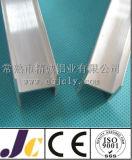 Profils en aluminium expulsés, profils en aluminium de anodisation d'argent (JC-P-80013)