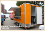 Ys-Fb390d 판매를 위한 주황색 BBQ 트레일러 음식 밴