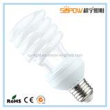 Media lámpara ahorro de energía ligera del T3 CFL del espiral 18W