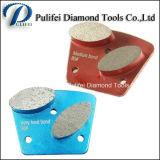 Frankurt 거친 다이아몬드 세그먼트 가는 단화를 가는 구체적인 지면