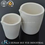 L'argilla refrattaria di ceramica coppella le coppelle di analisi del laboratorio dell'oro