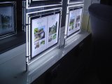 Cadre d'éclairage LED avec le bâti en cristal d'affiche pour des étalages de guichet d'agent immobilier