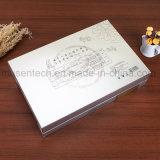 Cajas de embalaje cosméticas de sellado de plata de la cartulina de papel de la impresión de Cmyk