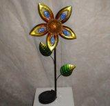 Décor Craftt léger solaire de jardin en métal de forme de fleur