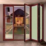 Porte coulissante française principale commerciale de verres de sûreté d'accordéon avec l'obturateur réglable à l'intérieur