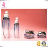 Botella de cristal el cosmético de la tapa
