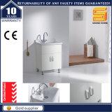 Europäischer weißer Glanz angestrichener Badezimmer-Möbel-Schrank