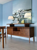 Buffet en bois massif en bois brun (I & D-NG267-90)