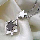 Form-Schmucksache-Ketten-Geliebt-Puzzlespiel-Anhänger-Halskette des Edelstahl-316L