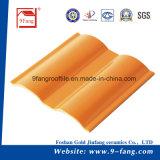 Здание настилая крышу гофрированный тип плитка волны толя глины сделанная в Китае