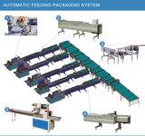 Las piezas industriales horizontales fluyen máquina del paquete con la película inferior de la carga