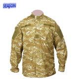 민감하는 인쇄된 사막 위장 군복 재킷